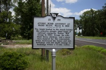 March 11, 1958 an atomic bomb was dropped not far from this location. Side 2.
