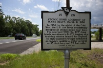 March 11, 1958 an atomic bomb was dropped not far from this location. Side 1.