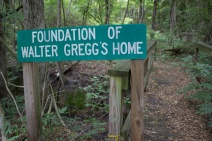 Foundation of the Walter Gregg home, which was damaged during the explosion.
